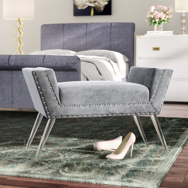 Selznick Upholstered Bench with Acrylic Leg by Mercer41