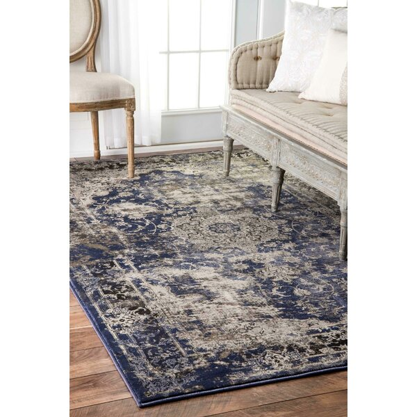 Dippach Blue/Beige Area Rug by World Menagerie
