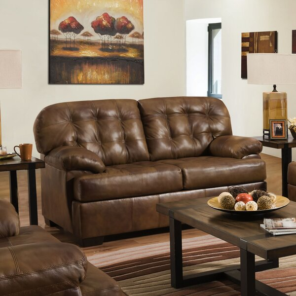 Thy Leather Loveseat by Red Barrel Studio
