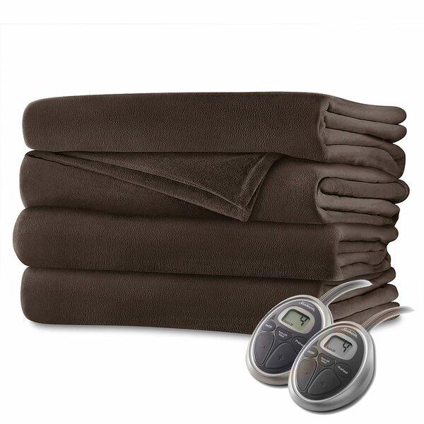 Velvet Plush Electric Heated Blanket by Bell + Howell