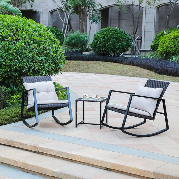 Tadeo 3 Piece Conversation Set with Cushions by Brayden Studio