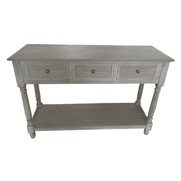 Berns Wood Louvered Console Table by Gracie Oaks Gracie Oaks