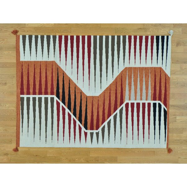 One-of-a-Kind Birchview Reversible Design Handwoven Wool Area Rug by Isabelline