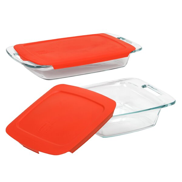 Easy Grab 4 Piece Bakeware Set by Pyrex