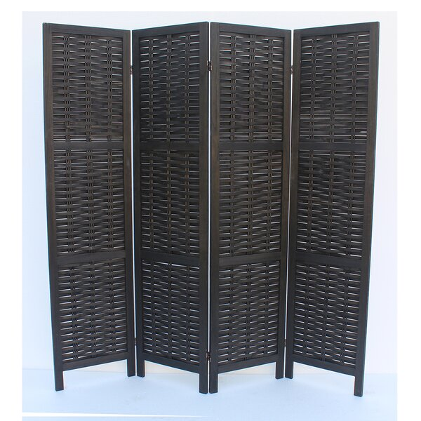 Beech 4 Panel Room Divider by Breakwater Bay