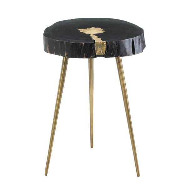 Aurora Edge Wood End Table by Nikki Chu