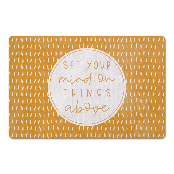Alexandor Set Your Mind on Things Above Kitchen Mat