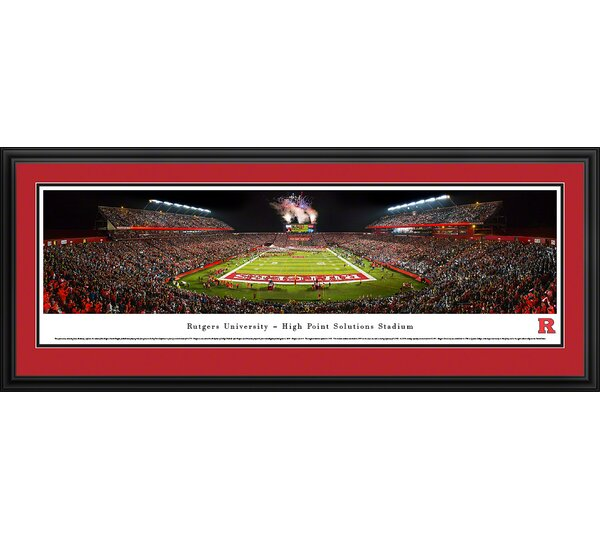 NCAA Rutgers University by James Blakeway Framed Photographic Print by Blakeway Worldwide Panoramas, Inc