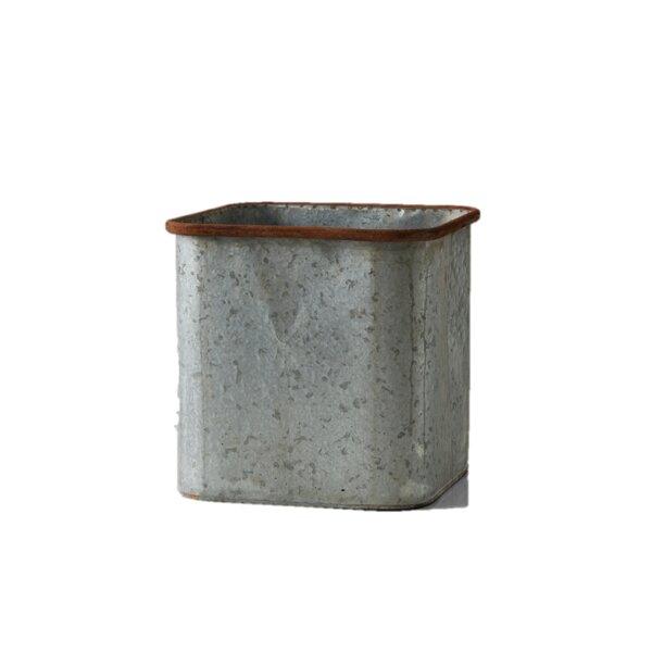 Lympsham Square Zinc Pot Planter by Gracie Oaks