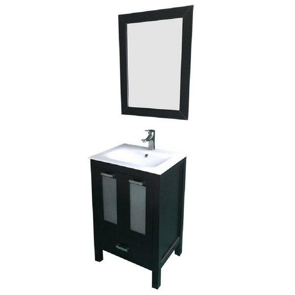 Hirst 24 Single Bathroom Vanity Set with Mirror by Latitude Run