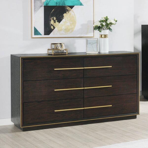 Blairstown Wood 6 Drawer Double Dresser by Everly Quinn Everly Quinn