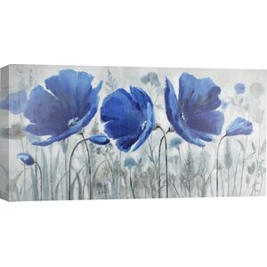 Blue Melody by Anastasia C. Painting Print on Wrapped Canvas by Hobbitholeco.