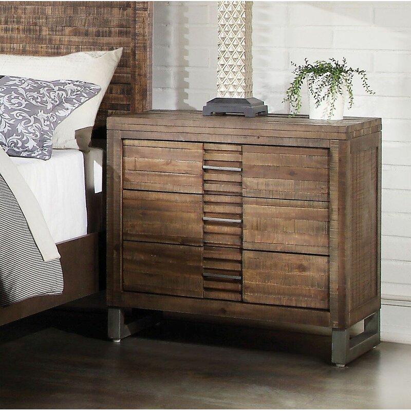 Foundry Select Anadarko 3 Drawer Nightstand In Reclaimed Oak Wayfair
