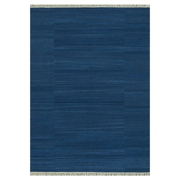 Barret Hand-Woven Blue Area Rug by Highland Dunes