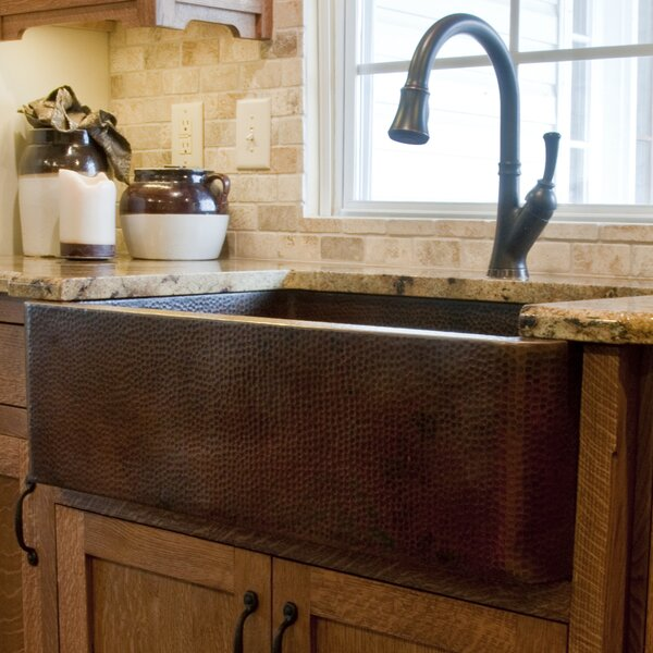 33 L x 22 W Single Farmhouse Kitchen Sink by Novatto