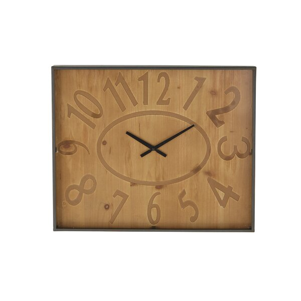 Parkersburg Rustic Square Wall Clock by Alcott Hill