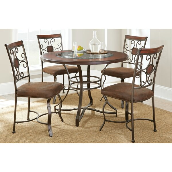 Dasia 5 Piece Dining Set by World Menagerie
