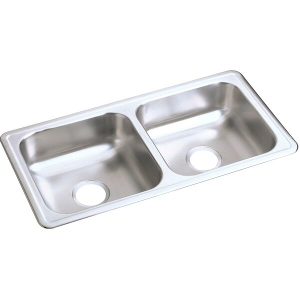Dayton 33 L x 17 W Double Basin Drop-In Kitchen Sink by Elkay