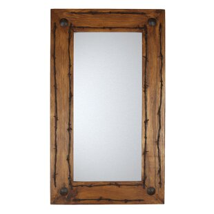 My Amigos Imports Old Ranch Rustic Accent Mirror