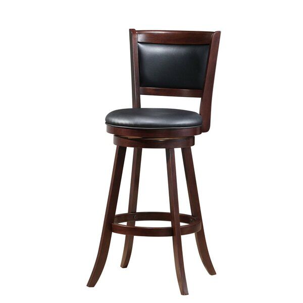 Kelli Wooden 29 Swivel Bar Stool by Red Barrel Studio