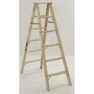 4 13 Ft Wood Step Ladder With 300 Lb Load Capacity