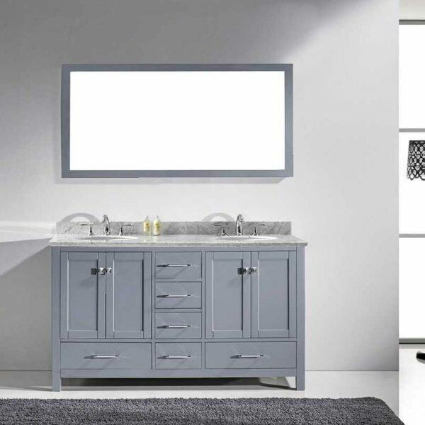 Serigne 59 Double Bathroom Vanity Set with Mirror by Willa Arlo Interiors
