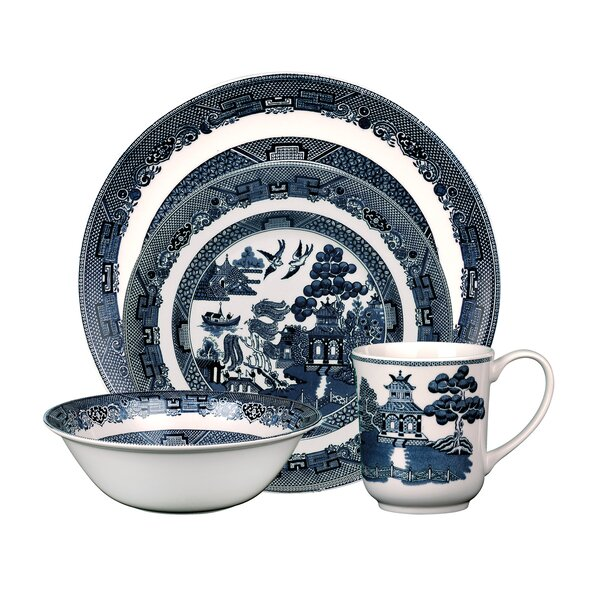 Willow 4 Piece Place Setting, Service for 1 by Johnson Brothers