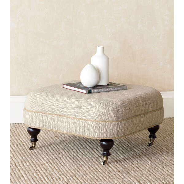Silas Corfis Vanilla Tufted Ottoman by Eastern Accents