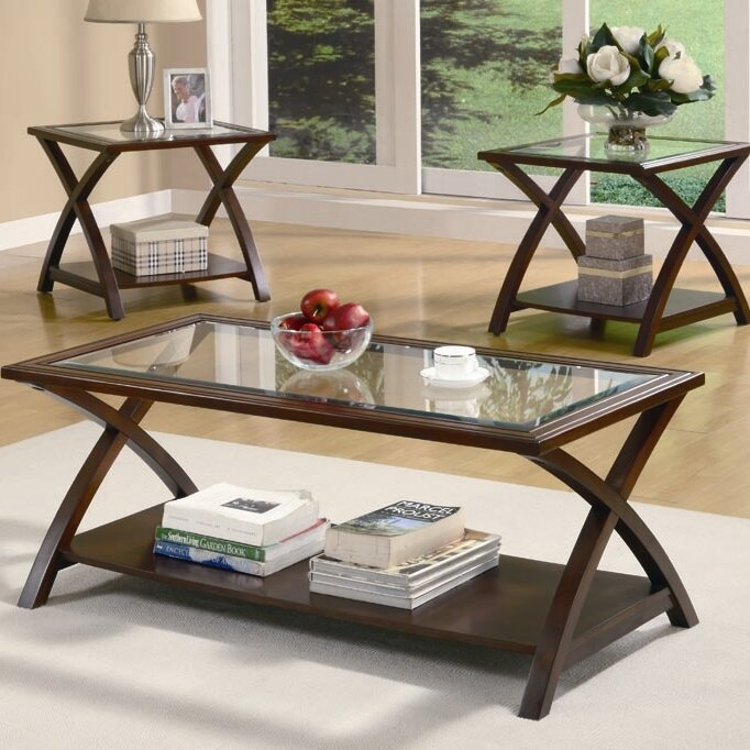 Beyers 3 Piece Coffee Table Set & Andover Mills Beyers 3 Piece Coffee Table Set u0026 Reviews | Wayfair