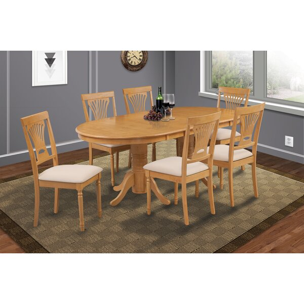 Schacht 7 Piece Extendable Solid Wood Dining Set By Winston Porter Discount