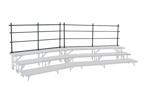 Guard Rail for Tapered Risers by National Public Seating
