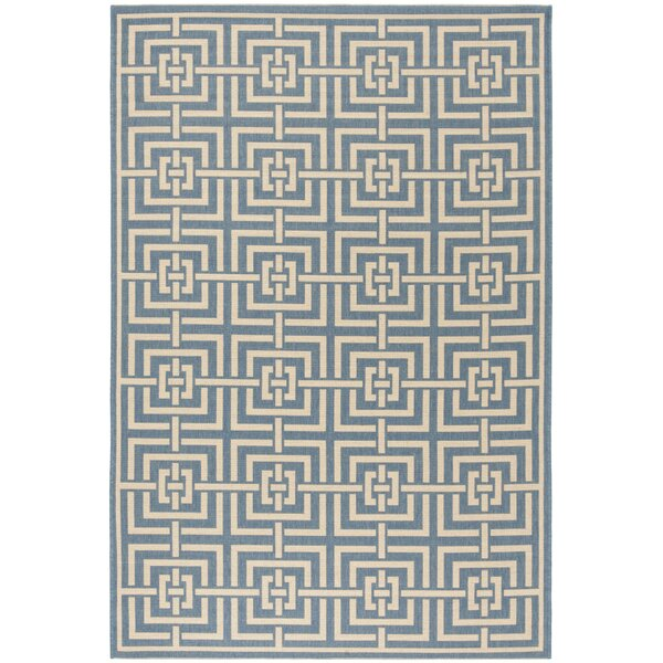 Horsholm Blue/Cream Area Rug by Brayden Studio