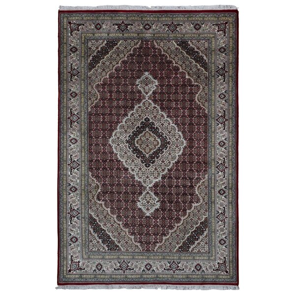 One-of-a-Kind Seaway Hand-Woven Wool/Silk Rectangle Red Area Rug by Isabelline