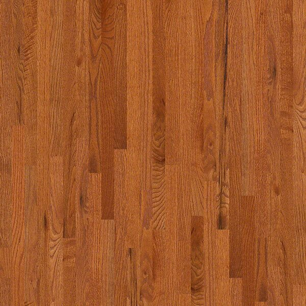 2-1/4 Solid Oak Hardwood Flooring in Semi Glossy Gunstock by Welles Hardwood