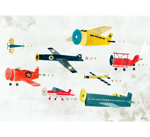 Airplanes on the Move by Irene Chan Vinyl Placemat by Oopsy Daisy
