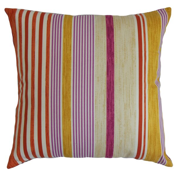 Usinsk Striped Cotton Throw Pillow by The Pillow Collection