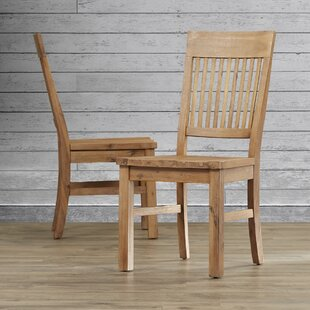 Compare prices Dulce Solid Wood Dining Chair (Set of 2) by Mistana