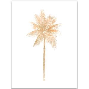 Tan Palm Tree Painting Print by Jetty Home