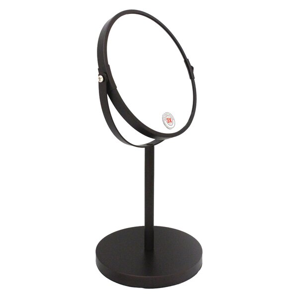 Jake Makeup / Shaving Mirror with Weight Base by Charlton Home
