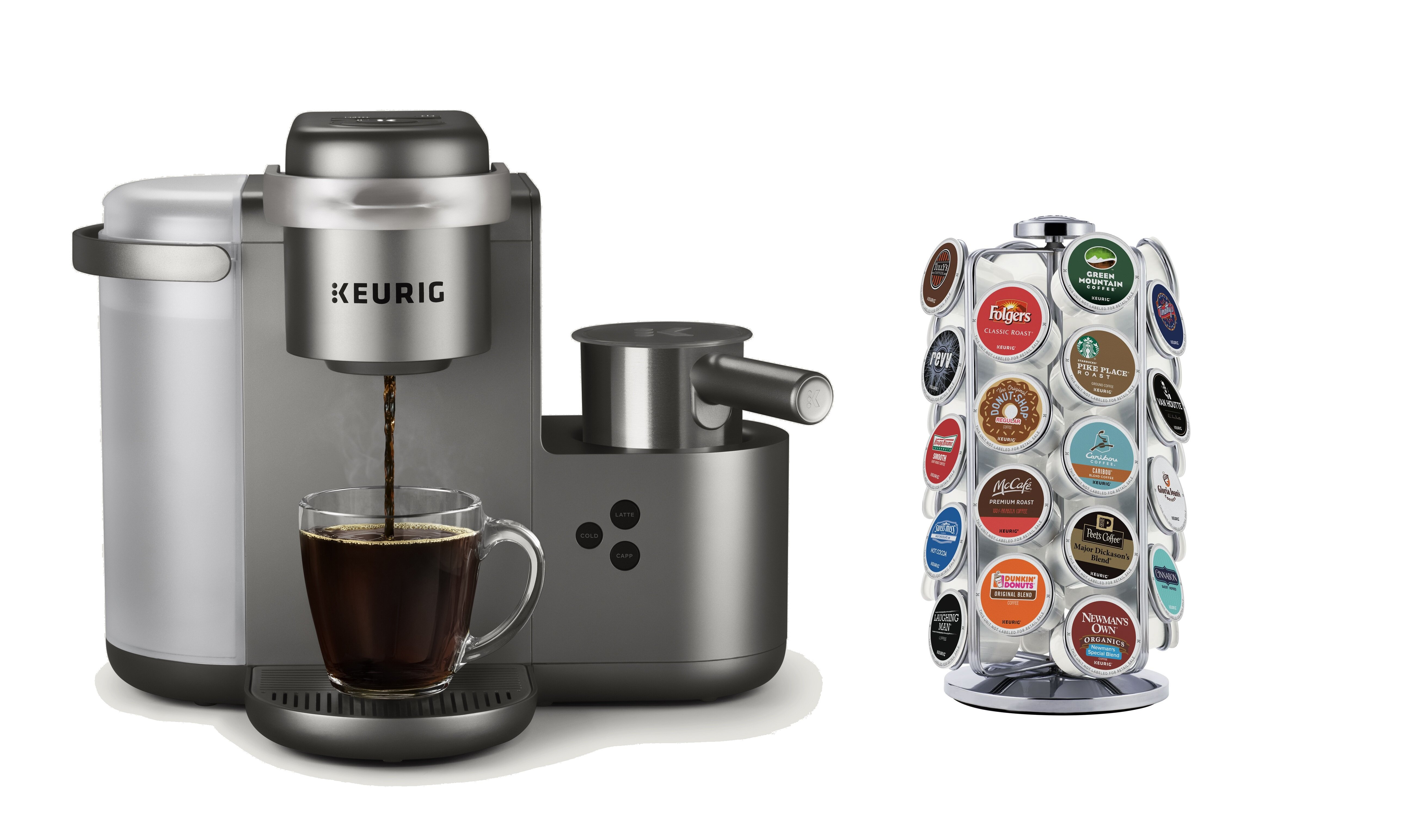 CoffeeMaker Single Serve Keurig K Cup Pod COLORS Latte Coffee Chocolat SHIP FREE