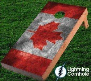 Canadian Flag Cornhole Board by Lightning Cornhole