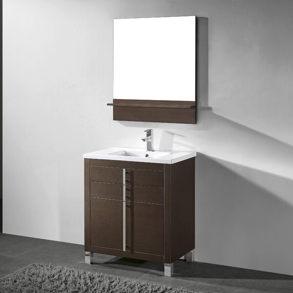 Turin 30 Single Bathroom Vanity Set with Mirror by Adornus
