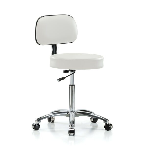 Height Adjustable Exam Stool with Back by Perch Chairs & Stools