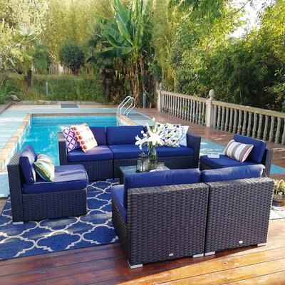 Breakwater Baybreakwater Bay Chiasson Outdoor 7 Piece Sofa Seating Group With Cushions X114204700 Dailymail