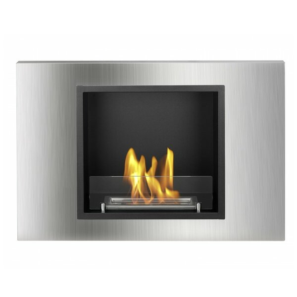 Lima Recessed Ventless Wall Mounted Ethanol Fireplace by Ignis Products