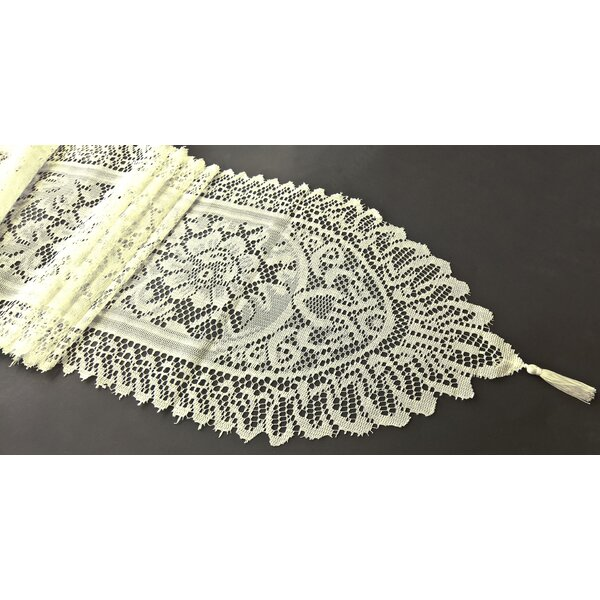 Firmin Tassel Lace Table Runner by Astoria Grand