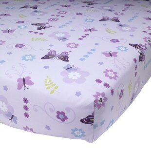 Find for Butterfly Lane Fitted Crib Sheet ByLambs & Ivy