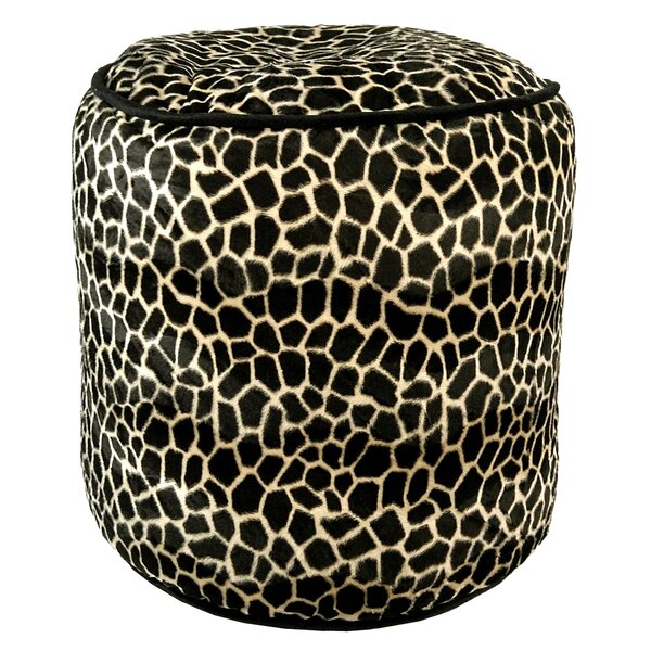 Giraffe Upholstered Pouf by R&MIndustries