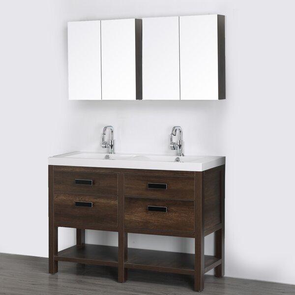 47 Double Bathroom Vanity Set with Mirror by Streamline Bath