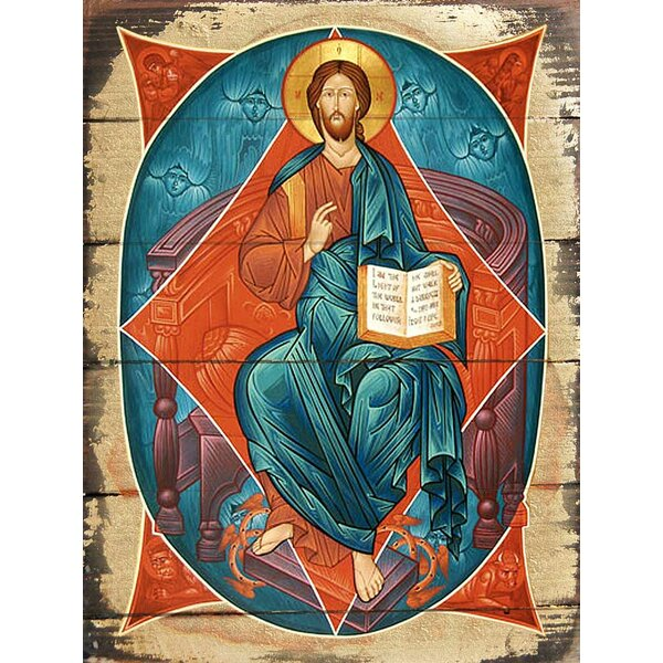 Inspirational Icon Wooden Jessus Icon Painting by G Debrekht
